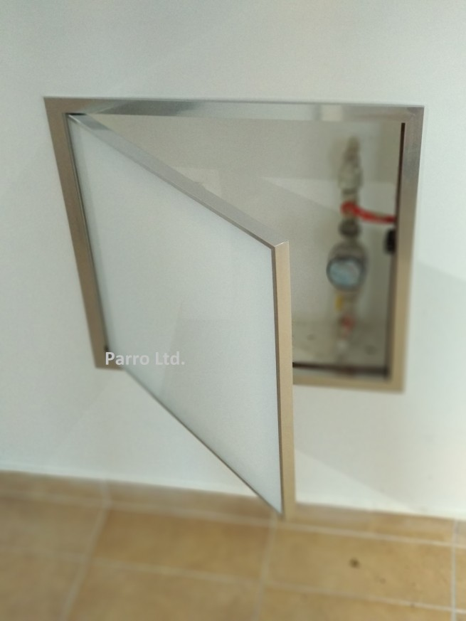 Ревизионна вратичка с алуминиева рамка Хром- ИЗРАБОТВА СЕ ПО ПОРЪЧКА