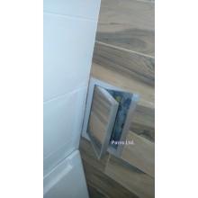 Ревизионна вратичка с алуминиева рамка и възможност за поставяне на плочка- ИЗРАБОТВА СЕ ПО ПОРЪЧКА