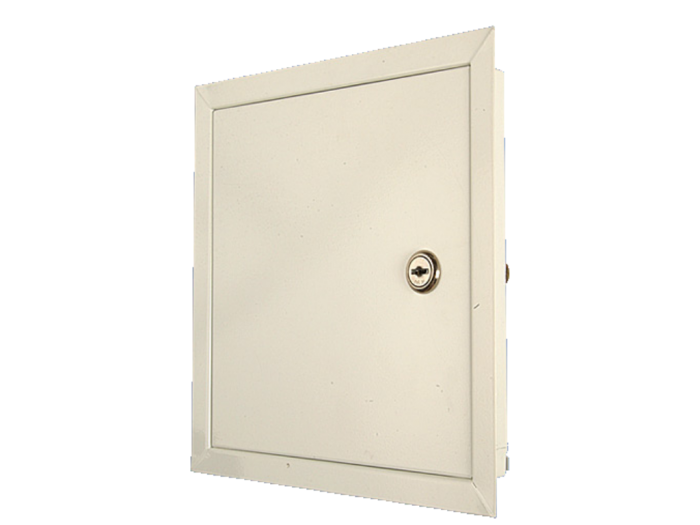 Метална, прахово боядисана ревизионна вратичка с ключ RLMA
